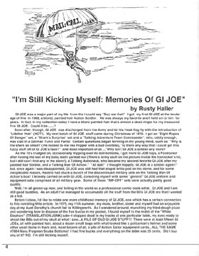 GIJOE Headquarters Quarterly Magazine Issue Number One Page 4