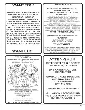 GIJOE Headquarters Quarterly Magazine Issue Number One Page 17
